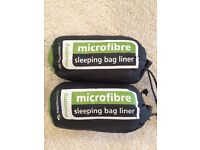 Sleeping Bag Liner x 2 New