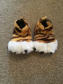 Kids Tiger Slippers from Next - Size 6 junior