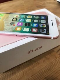 I Phone 7 still under warranty, Pink, Mint Condition! 128 GB Unlocked. Feel free to contact me
