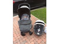 Mamas and Papas Luna Travel system in Denim and Strip