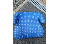 Used blue Volvo kids booster seat/cushion