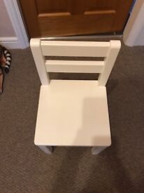 Child's solid wood small chair
