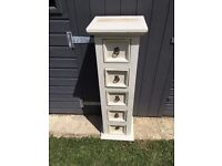 Distressed look CD cabinet white