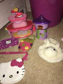 Girls bags and toy set
