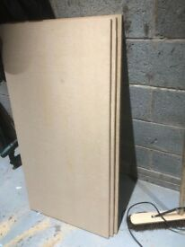 MDF 18mm SHEETS X 3