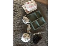 Shabby chic style vintage job lot bundle of bits and bobs