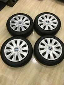 BMW 1 series winter wheels with Bridgestone Blizzak LM-32 run flat tyres 195/55R16