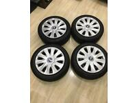 BMW 1 series winter wheels with Bridgestone Blizzak LM-32 run flat tyres 195/55R16