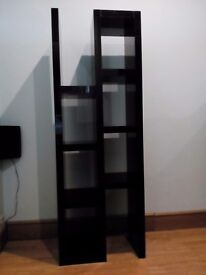 Modern display unit in black high gloss ,heavy and sturdy in good condition