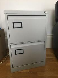 Filing cabinet with two draws