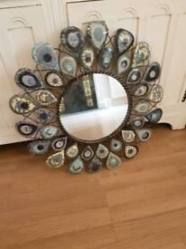 Beautiful brand new peacock mirror