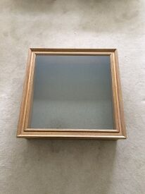 Display Cabinet, Table Top. Pine with Toughned Glass Lid, Excellent Condition