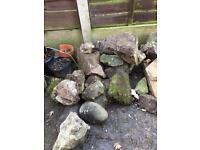 FREE rockery/large garden stones
