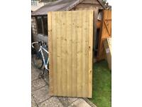Treated timber gate. High quality.