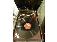 beautiful 1930s,(HMV)original his masters voice 78 speed gramophone,perfect working condition,v/nice
