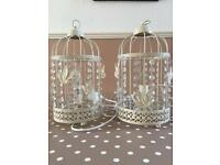 2 x bird cage lamps