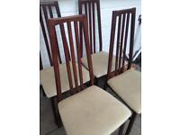 4 solid wood dinning chairs