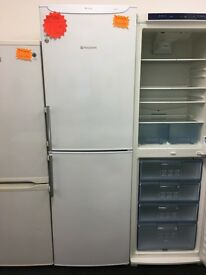 HOTPOINT FROST FREE FRIDGE FREEZER IN WHITE