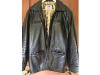 Men's black Morgan of Glasgow leather jacket. Excellent condition,