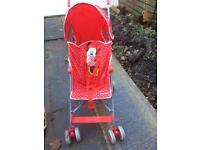 Minnie Mouse red stroller