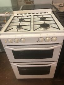 60CM WHITE DUEL FUEL STOVES GAS COOKER
