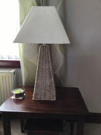 Set of Wicker Lampstands one with lampshade
