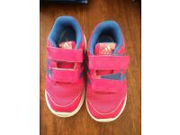 Girls Adidas Trainers size 8.5