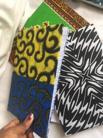 African print wrapped new notebooks