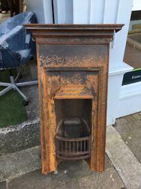 Ornate cast iron fireplace