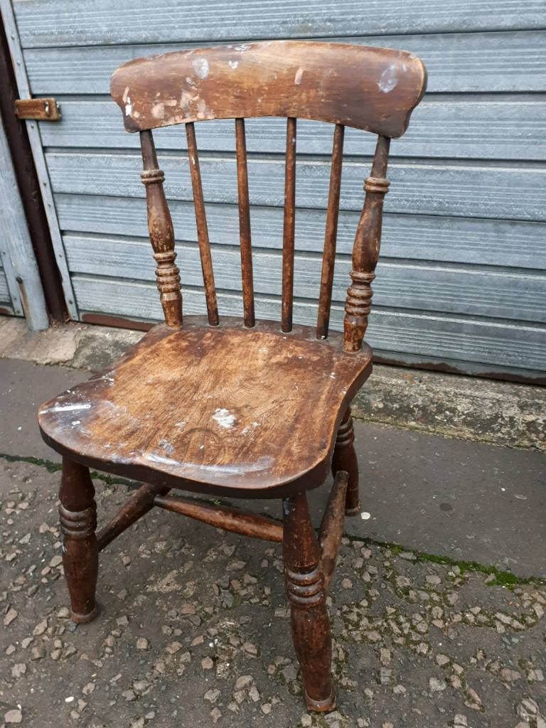 Lovely Old Wooden Childs Farmhouse Style Dining Chairs Delivery Available In Norwich Norfolk Gumtree