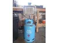 12.5kg butane gas bottle with regulator and heater