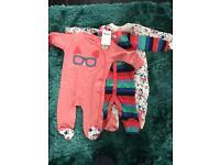 Girls 3 pack sleepsuits brand new from next