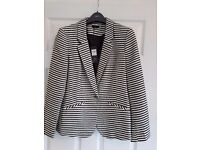 Ladies Ivory and Black jacket. Size 14. M and Co. Boutique