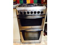 Indesit free standing electric cooker with gas hob KD3G11/G. Very reliable & super easy to clean.