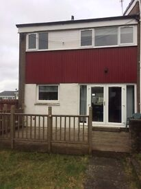 3 bedroom end terraced house for rent east kilbride-unfurnished