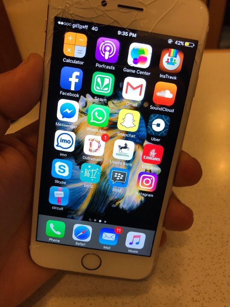Its an iPhone 6s 64gbin Uxbridge, LondonGumtree - I phone 6s 64 gb as you can see the screen is broken but everything else is fine and its unlocked without any contract. Only hands free and charger