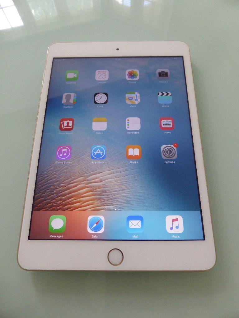 iPad Mini 3 64GB Gold, Wifi + Cellular, Unlocked to any ...