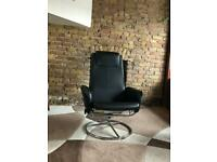 Leather adjustable armchair