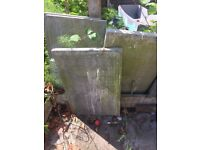 Eight large paving stones free