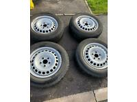 205 65 16 stell wheels and Continental tyres