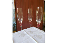 TRIO OF POLISH CHAMPAGNE FLUTES