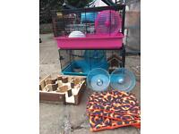 Hamster or Mouse Cages with wheels toys accessories