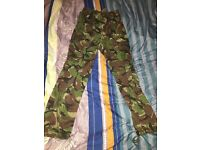 "Army Trousers 32"" waist - loose fitting camouflage trousers - Excellent Condition"