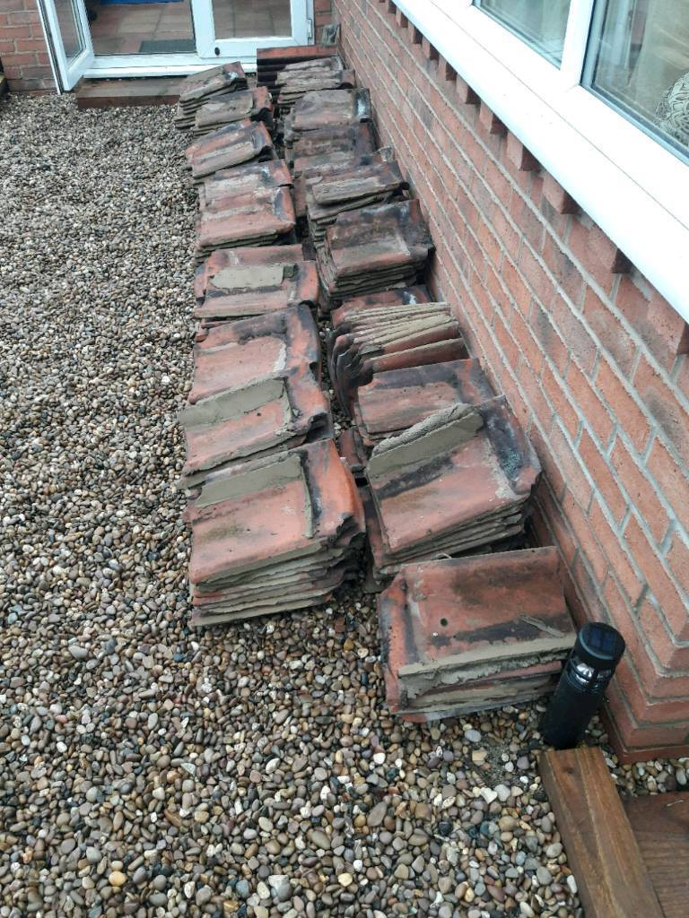 Hand made clay roof tiles
