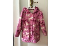Hatley pink raincoat, size 5 yrs old, hardly used,as good as new