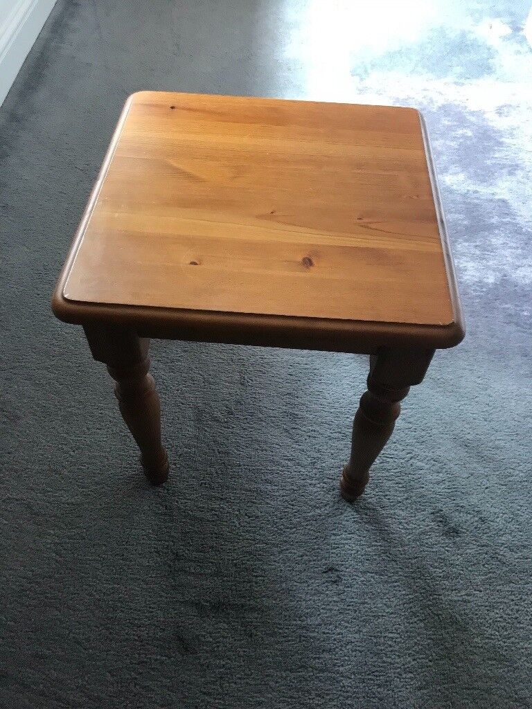 Small Pine Coffee Table Side