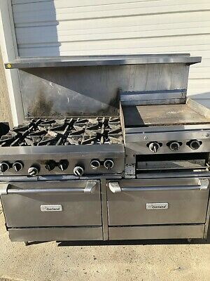 Garland Gas 6 Burner 24 Flat Top Grill W Lower Ovens