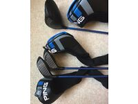 MINT Golf package - Ping, TaylorMade and Cameron. Driver, woods, irons, wedges,putter, bag trolley