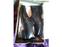 Hush Puppies Men's black gibson formal size 9 brand new in box never worn real leather