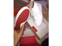 Christian Louboutin Sneakers White Spikes U.K 7 ( Red Bottom )